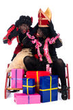 Portrait of Zwarte Piet with presents Royalty Free Stock Photos