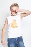 Portrait2 des eleven-year Jungen. Ruhm Lizenzfreies Stockbild