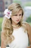 Portraite av en härlig dam Royaltyfria Bilder