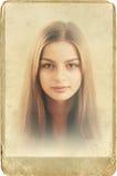 Portraite pasado de moda Fotografía de archivo libre de regalías