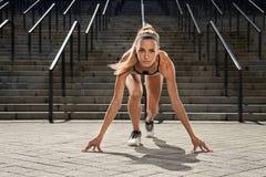 Portraite van jong sportfitness meisje bij de opleiding Het concept van de sport Royalty-vrije Stock Foto