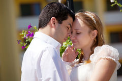 Portraite of young couple in love Stock Images