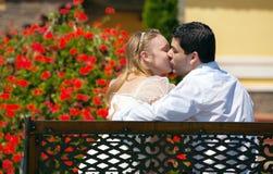 Portraite of young couple in love. Portraite happy of young couple in love Royalty Free Stock Photos