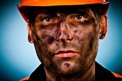 PortraitErdölindustriearbeitskraft stockfotos