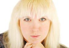 Portraitfrauenblondine Stockfotografie