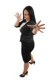 PortraitGeschäftsfrau getrennt Lizenzfreie Stockbilder
