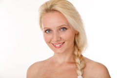 Portraith of beautiful woman with long blond  hair Royalty Free Stock Images