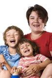 Portraitmütter mit Kindern Lizenzfreie Stockfotos