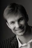 Portraitmann, Lächeln stockfoto