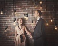 Portraits étonnants de couples images libres de droits