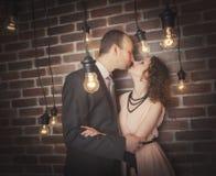 Portraits étonnants de couples image stock