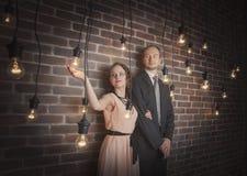 Portraits étonnants de couples photo libre de droits