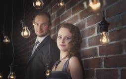 Portraits étonnants de couples photographie stock libre de droits
