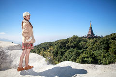 A portraits of asian woman at Doi Inthanon national park Stock Images
