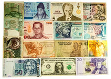 Portraits on the banknotes Royalty Free Stock Photo