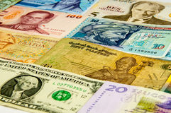 Portraits on the banknotes Stock Image