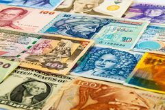 Portraits on the banknotes. The variety Portraits on faces of international banknotes Stock Photography
