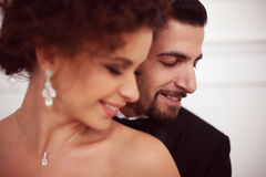 Portraits of a bride and groom Royalty Free Stock Photos