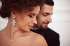 Portraits of a bride and groom Royalty Free Stock Images