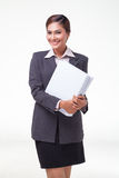 Portraits business woman on white background Royalty Free Stock Images