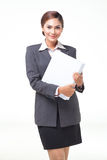 Portraits business woman on white background Stock Image