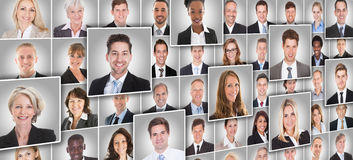 Portraits Of Businesspeople Royalty Free Stock Photo