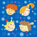 Portraits of children with smiles Royalty Free Stock Image