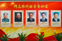Portraits of China Communist leader royalty free stock photo