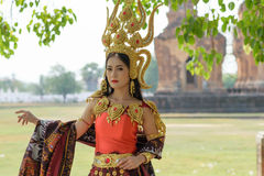 Portraits in concept Apsara. , The legend of female in the ancie Stock Image