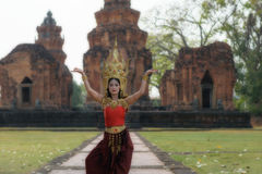 Portraits in concept Apsara. , The legend of female in the ancie Stock Images