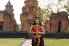 Portraits in concept Apsara. , The legend of female in the ancie Stock Photo