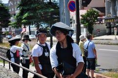 Portraits d'extracteur japonais de pousse-pousse image stock