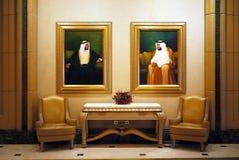 Portraits de Sheikh Zayed et de Sheikh Khalifa Photo libre de droits