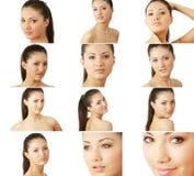 Portraits der jungen Frau der Schönheit Stockbilder