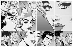 Portraits der jungen Paare in der Liebe stock abbildung