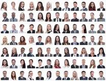 Portraits des employés réussis d'isolement sur un blanc photographie stock libre de droits