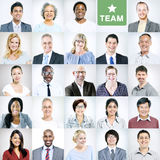 Portraits des gens d'affaires divers multi-ethniques Photographie stock libre de droits