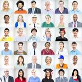 Portraits des personnes mélangées multi-ethniques de professions Photos libres de droits