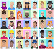 Portraits of different people, vector illustration. Portraits of different people, profession, nationality, vector illustration Royalty Free Stock Image