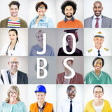 Portraits of Diverse People with Different Jobs. Concept Royalty Free Stock Photo