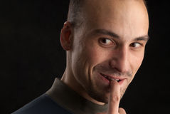 Portraits eines stattlichen Mannes Stockfotografie
