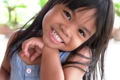 Portraits girl children smile thailand Stock Photography