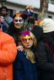 Portraits  from the Grand Carnival Parade 2016 in Madrid, Spain Stock Images
