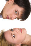 Portraits of happy couple Royalty Free Stock Image
