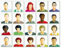 Portraits illustration Royalty Free Stock Image