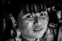 Portraits Karen Hill's Tribes BW 4 Royalty Free Stock Image
