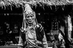 Portraits Karen Hill's Tribes BW 9 Royalty Free Stock Photo