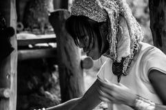 Portraits Karen Hill's Tribes BW 13 Stock Photos