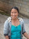 Portraits of Laotian people. Ethnic groups, hill tribes royalty free stock image
