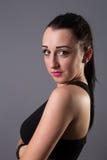 Portraits lovely girl in the studio Stock Images